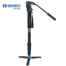 Benro C38TDS2 Carbon Fiber Tripod Kit Bird Watching Monopod Kit Professional Video Camera SLR Tripod Stable Support For Canon