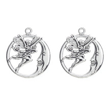 Buy 10pcs Moon Angel Charms Antique Tibetan Silver Alloy Charms Pendant Choker Necklace Bracelet Jewelry Making Finding 27*30mm for $1.29 in AliExpress store