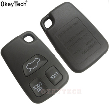 OkeyTech Black Remote Car Key Shell For Volvo S40 S70 C70 V40 V70 Key Case Cover Fob Replacement 3 Buttons New Car Accessories(China)