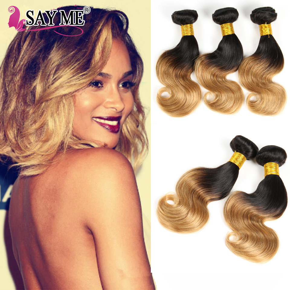 2017 Hair Trends Ombre Bob Short Brazilian Body Wave Hair Extensions 1B/30# Dark Root Colored Ombre Two Tone Body Wave Hair<br><br>Aliexpress