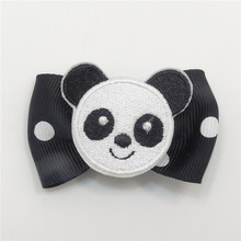 10pcs/lot Cartoon White and Black Panda Bear Hair Clips No Slip Velour Animal Hairpin Girls Cutie Princess Gift Barrettes Grips(China)