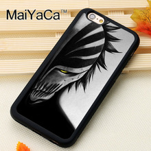 MaiYaCa Anime Bleach Mask New Phone Case For iphone 6 6s Fundas case For iphone 6 6s Coque Fitted Case Back Cover(China)