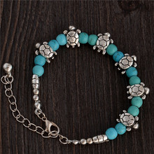 H:HYDE Nice Shipping Appealing Nice Retro Adjustable Tortoise Chain Bead For Ladies Natural stone Bracelet