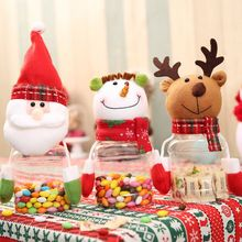 2017 Creative Cartoon Children christmas Candy cans decorations for home Santa Reindeer Snowman navidad enfeites de natal bottle
