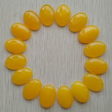 Wholesale 20pcs/lot fashion good quality yellow onyx Oval CAB CABOCHON teardrop stone beads for jewelry making 18x25mm free(China)
