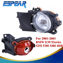 2x Car Front Bumper Driving Fog Light Lamp Housing For BMW E39 5-Series 525I 530I 540I 4-Door 2001 2002 2003 Car Accessory #989