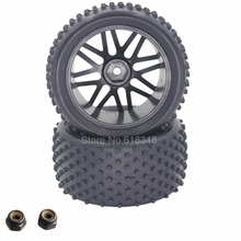 2Pcs 88MM Rubber RC 1/10 Buggy Rear Wheels Tires Hex 12mm Width :41mm For Remote Control Hobby Car(China)