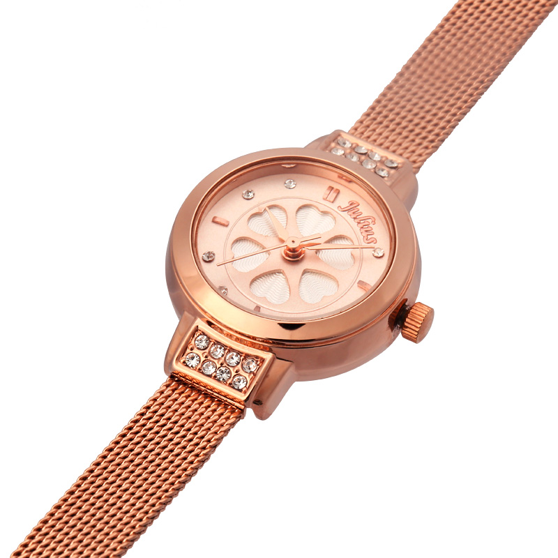 Julius Lady Woman Wrist Watch Japan Quartz Hours Best Fashion Dress Bracelet Steel Band Heart Clover Rhinestone Girl Gift JA-765<br><br>Aliexpress