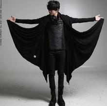 Free shipping men clothing lager size Korean version of the cloak long section of the men 's stage performance clothing / S-5XL
