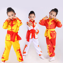 Wholesale Chinese traditional wushu costume martial arts uniform kung fu suit for kids stage performence clothing plus size