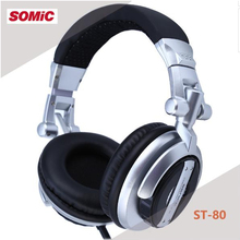 Original Somic ST-80 Monitor Music Headset HiFi Subwoofer Enhanced Earphone Super Bass Noise Isolating DJ Professiona lHeadphone