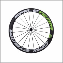 Chinese Full Carbon 50mm Clicher Wheels Bike wheels 3K Carbon Road Bike wheelset , Factory Direct Marketing Wheels Free Shipping(China)