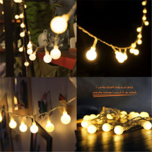 2M/3M/4M/5M/10M 20/30/40/50/80Led Fairy Christmas Lights Ball Battery LED string lights for holiday Wedding Party Outdoor Indoor(China)