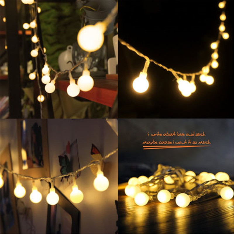 2M/3M/4M/5M/10M 20/30/40/50/80Led Fairy Christmas Lights Ball Battery LED string lights for holiday Wedding Party Outdoor Indoor(China (Mainland))