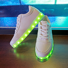 2017 Fashion Luminous Sneakers  USB Charger Lighted Shoes for Boy&Girl Glowing Sneakers Kids Light Up children Shoes Led Slipper