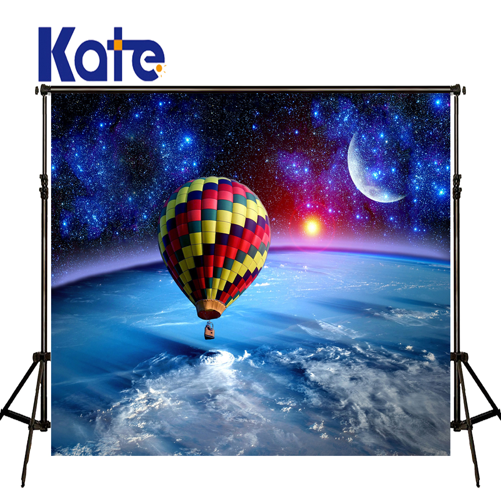 KATE Scenery Photography Backdrops Sky Cloud Backdrop Balloon Background Cosmic Science Fiction Seamless Background for Studio<br>