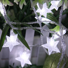 10 Led Battery Powered Star Shaped string light led Fairy light home Hotel Christmas Party Ball Wedding Holiday Event decoration