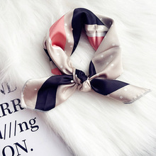 Comfortable Fabric Lovely Handkerchief Scarf Headband More Use  Imitation Silk Cartoon Style