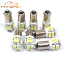 White 10pcs Ba9s 20smd 20 Smd 3528 1210 Led Car Interior Reading License Plate Bulb TAIL Lamps Gauge light DC 12v Wholesale(China)