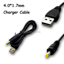 USB 2.0 A Male Plug 4.0x1.7mm DC Power Adapter Charge Cable Charger Cord Supply  5V For Tablet Android Sony PSP 4.0*1.7mm