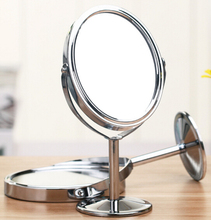 New Beauty Make Up Mirror Dual Side Normal Magnifying Oval Stand Mirror Mini Cosmetic Mirror for Lady Girl