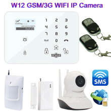3G/GSM Camera +WiFi IP Camera Alarm System Home Security Video Alarm SMS Controller With GSM Burglar System Door Contact W12F
