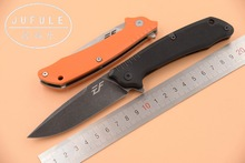 JUFULE New EF1801 ball Bearing G10 handle D2 blade flipper folding camping hunt outdoor survival pocket EDC tool kitchen knife