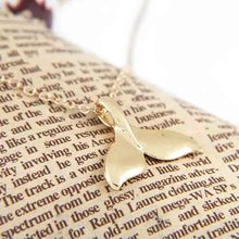 Finish Whale Tail Pendant Necklace  gold filled chain/trendy necklace/ gift   XL396