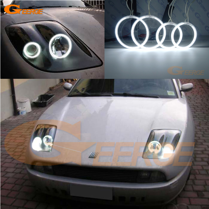 For Fiat Coupe 1993 1994 1995 1996 1997 1998 1999 2000 Excellent Ultra bright illumination CCFL Angel Eyes kit Halo Ring<br>