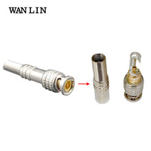 WANLIN 10pcs CCTV BNC Connector Solder Less Twist Spring BNC Connector Jack for Surveillance Accessories(China)
