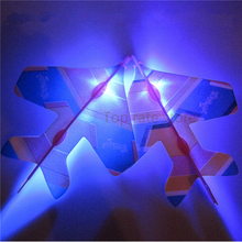 Wholesale 5 Pcs Amazing LED Light airplane Rocket Helicopter Flying Toy LED Light Flash Toys baby Toys Party Fun Gift Xmas sale(China)