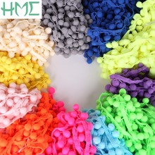 New Arrival 5Yards/Lot 20MM Pompon Trim Ball(10mm) Fringe Ribbon Lace for DIY Sewing Child Dress Accessory Home Party Decoration(China)