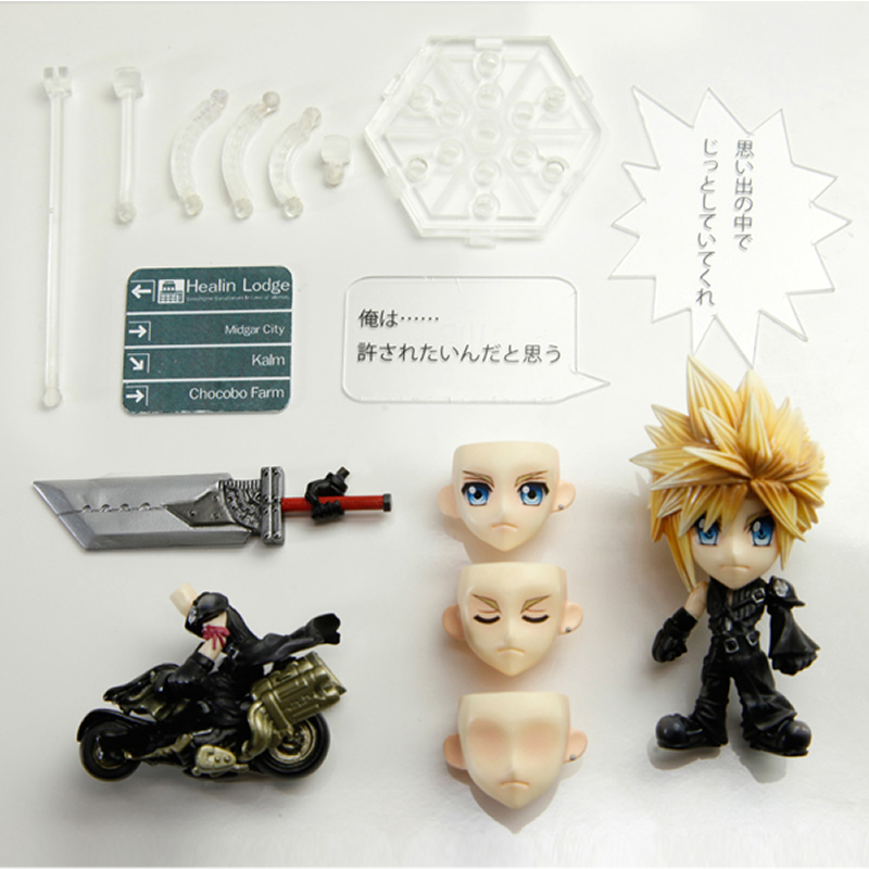 10 Styles 10CM Original Ver Final Fantasy Nendoroid Toys TRADING ARTS KAI Mini Doll Classic Persona Collection Model with box<br>