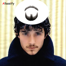 Allaosify Human Hair Hand Tied Men Fake Beard Mustache for Entertainment Party film full Beard(China)