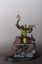 "WOW World of Orc Statue Figure High Quality Wolf Rider 10"" Toy Collectibles Model Doll 275"