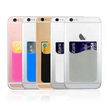 2pcs Back Cover 3M Adhesive Sticker SIM/ID/Credit Card Pocket Pouch Holder Pop For iPhone Samsung Socket Android Smart Phones(China)