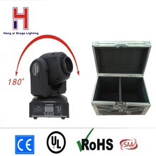 (2 pieces/lot) dj light led mini moving head spot 30W dmx 512 gobo led lighting effect with flightcase