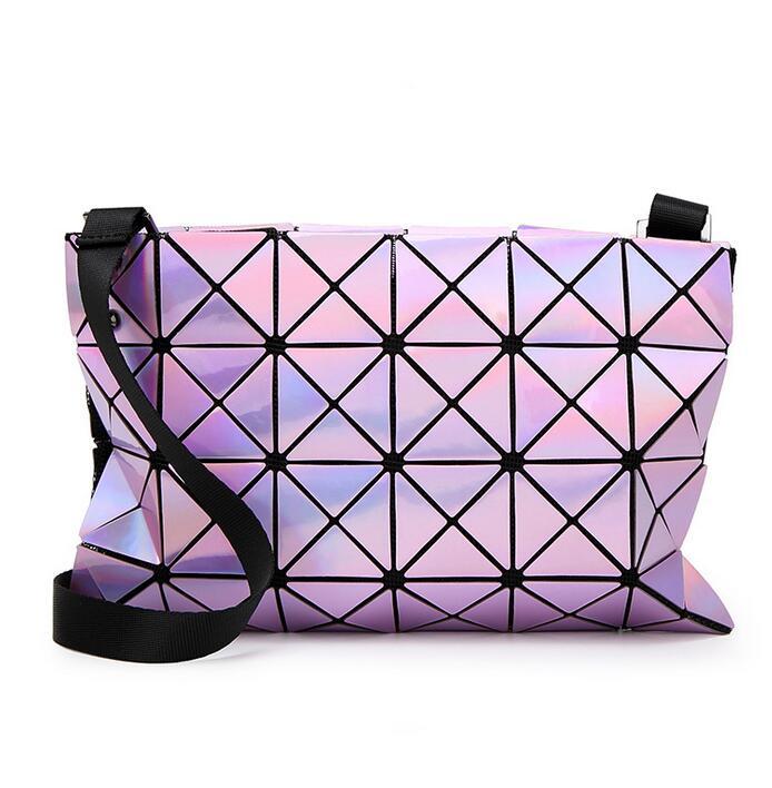 Discounts! Women-bag Geometric clutch make-up handbag Hologram laser silver bag  female baobao bag logo inside Free Shipping  <br><br>Aliexpress