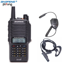 Baofeng UV-XR 10W High Power 4800mAh IP67 WaterProof Antidust Dual Band Walkie Talkie Two Way Radio+One Speaker Mic+One Earpiece