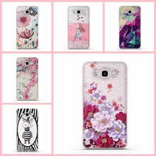 Fashion 3D Relief Printing Soft TPU Protector Case For Samsung Galaxy J5 2016 J510 J510F SM-J510F Silicon Cover for Samsung J5
