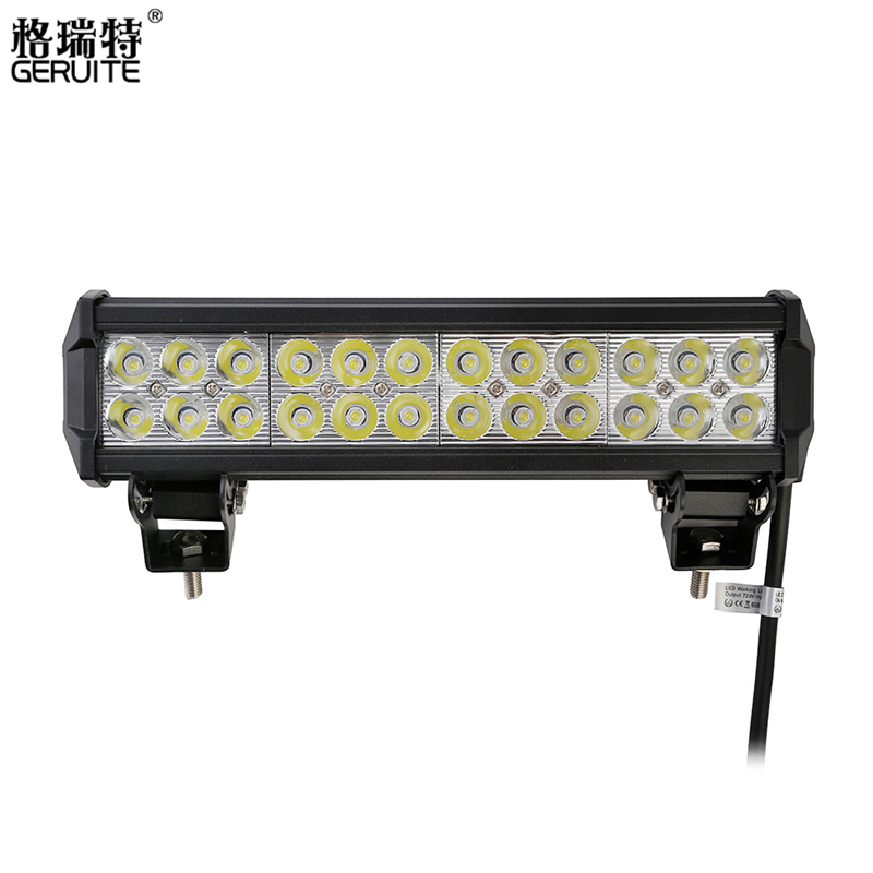 GERUITE Brand 2pcs 72W LED Work Light Bar for Tractor Boat Off-Road 4WD 4x4 Hummer Truck SUV ATV Combo Beam 12v 24v<br><br>Aliexpress