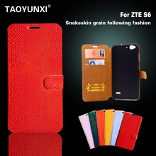 Cases For ZTE Blade S6 Q5 Q5-T Cases Cover Snake Leather Case Flip Phone Cover For ZTE S6 Skin Shell High Quality Hot Sale Bags