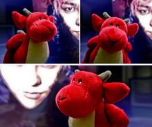 15Cm BigBang GD dragon dinosaur doll Collection Red Plush toys Fans Gift Collection Fast Shipping