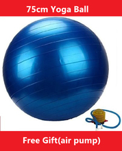 30'' Exercise Ball & Air Pump for Yoga Fitness Pilates Balance Gym 75 cm 4 Colors(China)