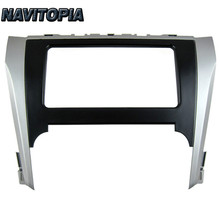 NaviTopia 202*102MM Car Radio Fascia for Toyota Camry 2012 Stereo Face Plate Frame Panel Dash Mount Kit Adapter Trim Bezel Facia(China)