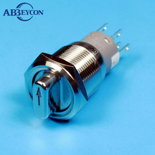 1930XE2 19mm stainless steel knob switch waterproof metal LED illuminated 2 position rotary switch with high quality 20pcs/lot(China)