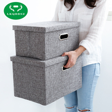 Home Storage Boxes Jute Clothing Organizer Bags Organizers Container Box Toy Books Sundries Oxford Cloth Storage Case
