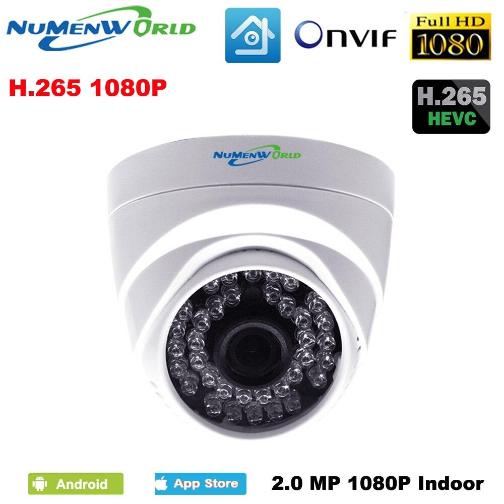 Real H.265 2.0MP IR network IP cam 1080P HD CCTV Video surveillance dome security IP camera ONVIF day/night indoor webcams<br>