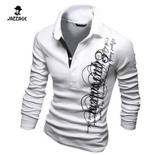 2016 Mens Polo Shirt Brands Mens Letters Printed Long Sleeve POLO Shirts Brands Long Sleeve Camisas Polo Mens Polo Shirt DAQAA