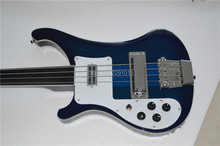 TOP QUALITY GUITAR  Rick  4003 bass guitar Through  maple neck Ebony fretboard Fretless left hand (right hand available)